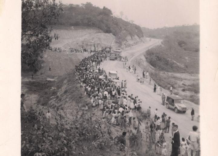 Chegada da imagem de Nossa Senhora de Lourdes em Itaguara em 13 de setembro de 1959- atual BR-381/Rodovia Fernão Dias
