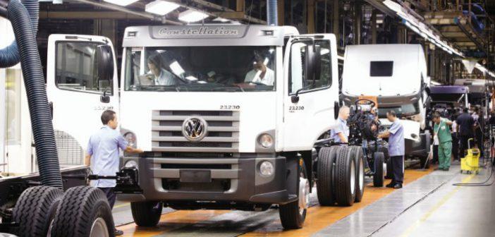 A fábrica de Resende (RJ): daqui saem caminhões para 30 países